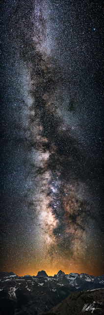 Arrow Peak, Colorado, Landscape, Milky Way, Mountains, Night, Nightscape, Panorama, San Juan Mountains, Stars, Vertical, Vestal Peak