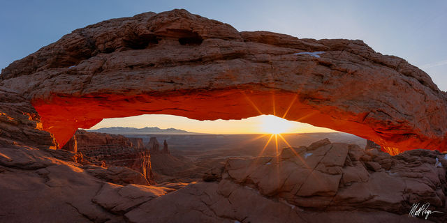 Canyonlands, Canyonlands National Park, Canyons, Grand Scenic, Mesa Arch, Panorama, Panoramic, Sunrise, Sunstar, Utah, Winter, desert, landscape photography