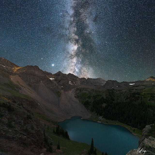 Milky Way and Blue Lake (2020)