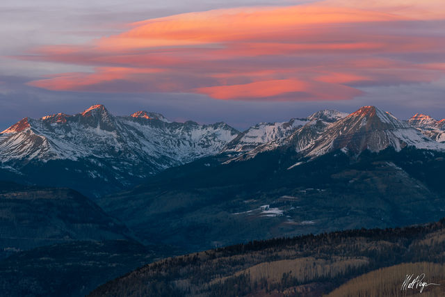 13ers, Colorado, Durango, Engineer Mountain, Glorious, Grizzly Peak B, Landscape, Lenticular Clouds, Missionary Ridge, Mountains, San Juan Mountains, Snow