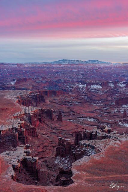 Canyonlands, Canyonlands National Park, Canyons, Grand Scenic, Island in the Sky, Mountains, Snow, Sunrise, Utah, White Rim, Winter, desert, pastel