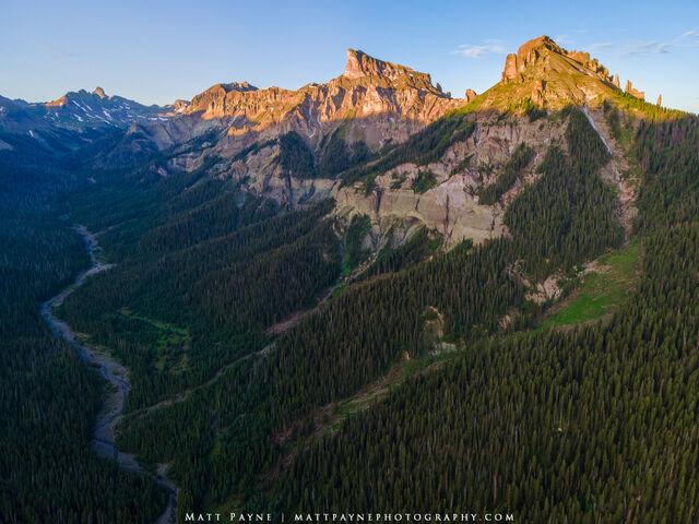 Precipice Peak, San Juan Mountains, Colorado, Sunrise, mountain landscape
