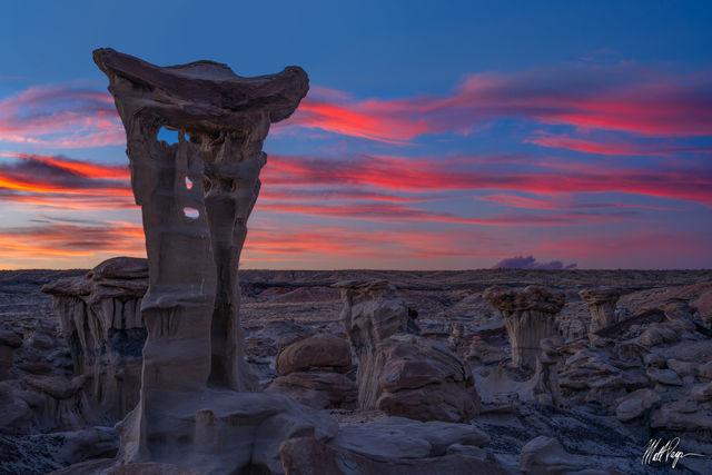 Bisti Badlands, Wilderness, Hoodoo, Landscape, New Mexico, Sunset, desert, rock, sandstone, geology