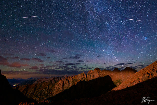 13ers, Animas Mountain, Colorado, Durango, Needle Range, Landscape, Meteor Shower, Monitor Peak, Needle Range, Night, Perseid Meteor Shower, San Juan Mountains, Silverton, magical, stars