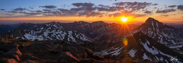 Uncompahgre Peak at Sunrise from Wetterhorn Peak (2011)
