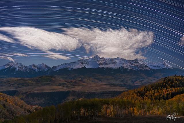 14er, Clouds, Colorado, Fall, Fall Colors, Lizard Head Peak, Wilson Peak, Mountains, Night, Nightscape, San Juan Mountains, Star Trails, Stars, Telluride