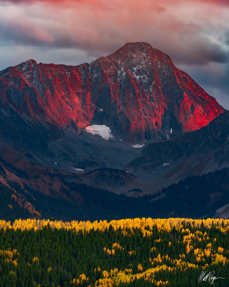 14er, Aspen, Aspen Trees, Autumn, Capitol Peak, Carbondale, Colorado, Elk Mountains, Fall, Fall Colors, Landscape, Mountains, Red, September, Sublime, Sunset, Wilderness, Yellow