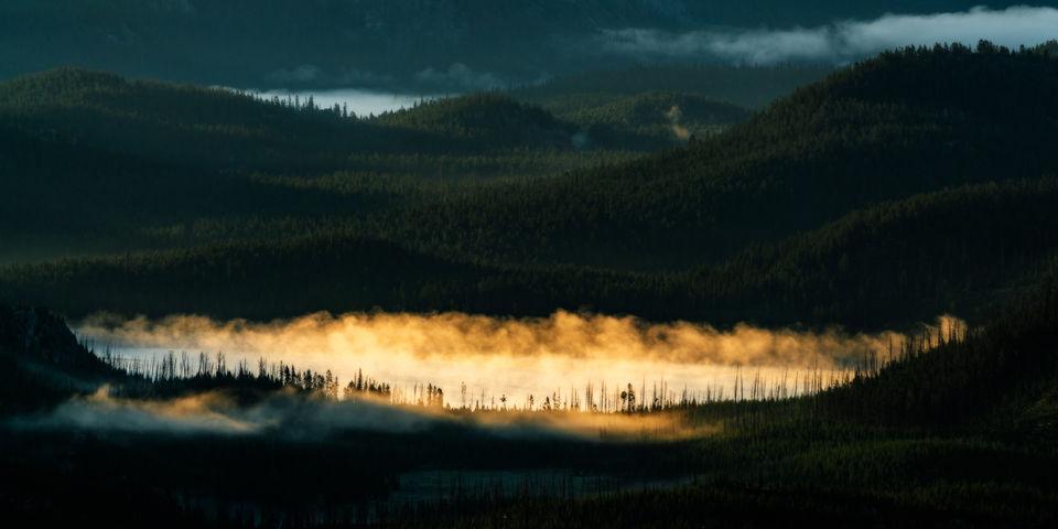 Cooke City, Fog, Montana, Sunrise
