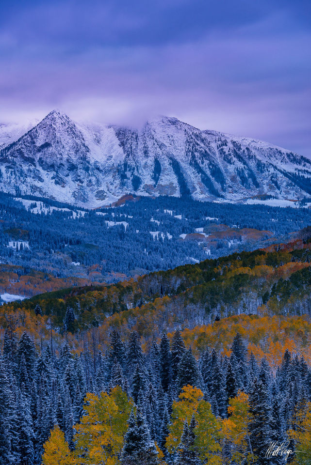 Autumn, Colorado, Crested Butte, Fall Color, Kebler Pass, Landscape, Mountains, east beckwith mountain, snow, West Elk Mountains