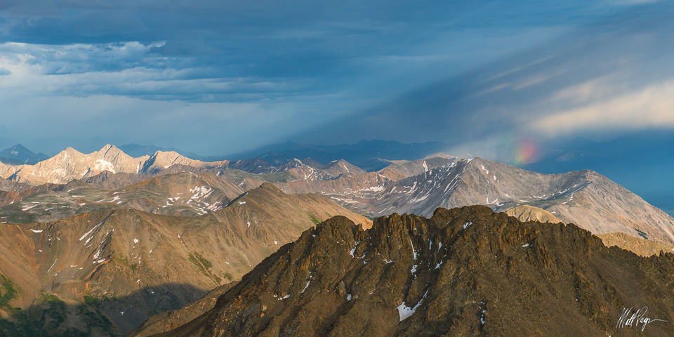 13ers, Clouds, Colorado, Landscape, Mountains, Panorama, Rainbow, Sunset, Taylor Park, Three Apostles, storm