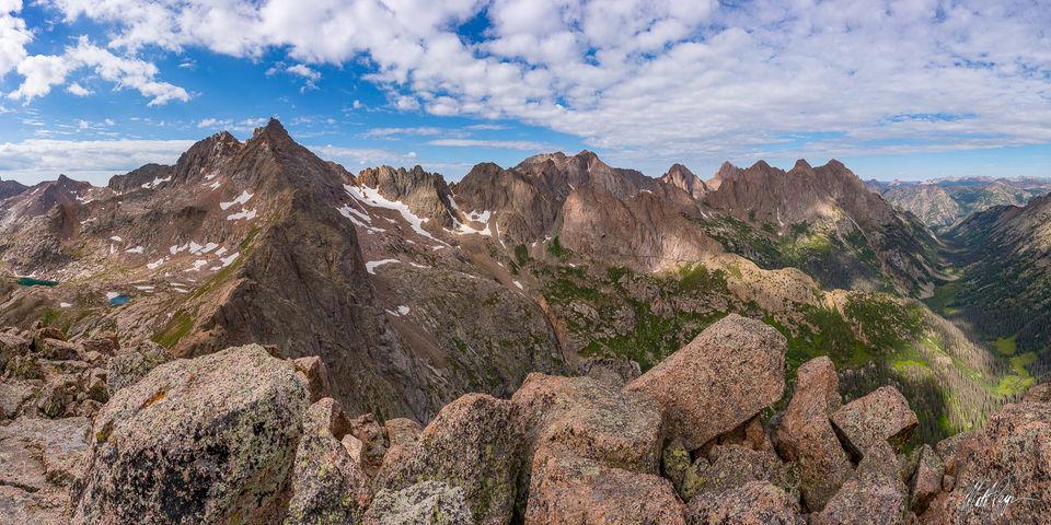 13er, 14er, Animas Mountain, Colorado, Durango, Knife Point, Monitor Peak, Mount Eolus, Mountains, Needle Range, No Name Creek, Panoramic, Pigeon Peak, San Juan Mountains