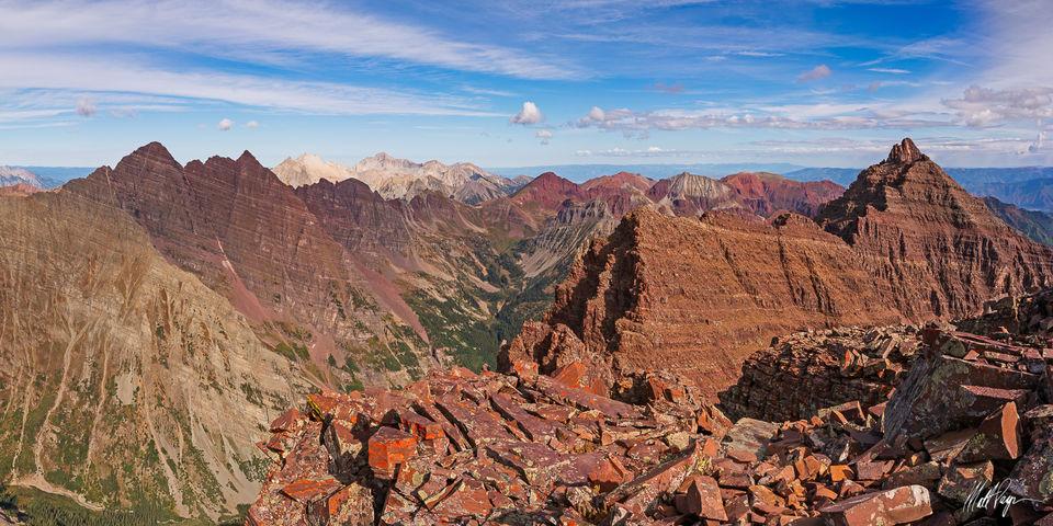 14er, Aspen, Capitol Peak, Clouds, Colorado, Elk Mountains, Landscape, Maroon Bells, Mountains, Panoramic, Pyramid Peak, Snowmass Mountain