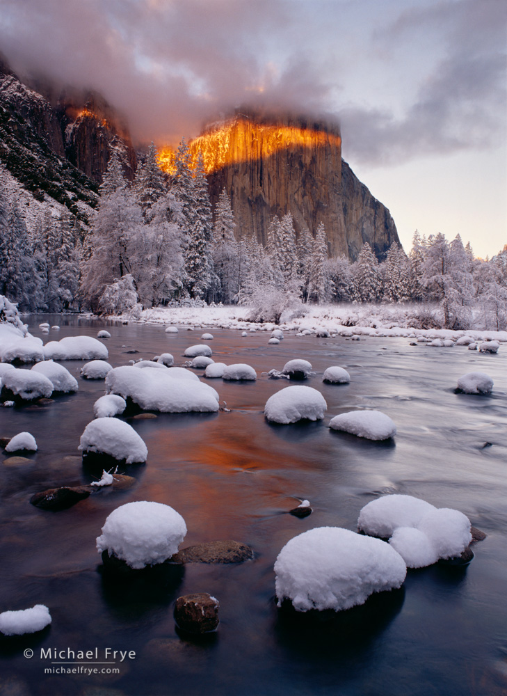 California, El Capitan, National Park, Sierra Nevada, USA, Yosemite NP, Yosemite Valley, awe, cloud, cold, colorful, dramatic, flow, frost, majestic, mist, mountain, river, snow, timeless, vertical ph, photo