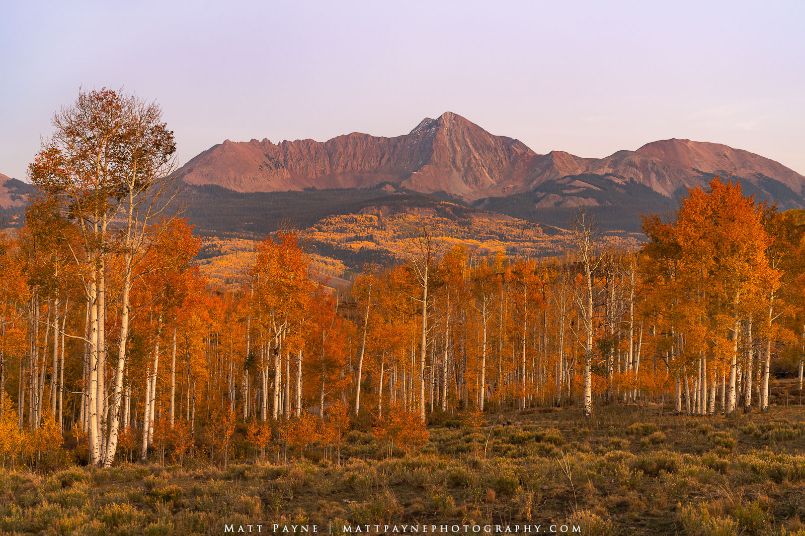 Clear skies, orange aspen leaves, beautiful mountains and warm sunset light. These are the fall / autumn Colorado moments I live...