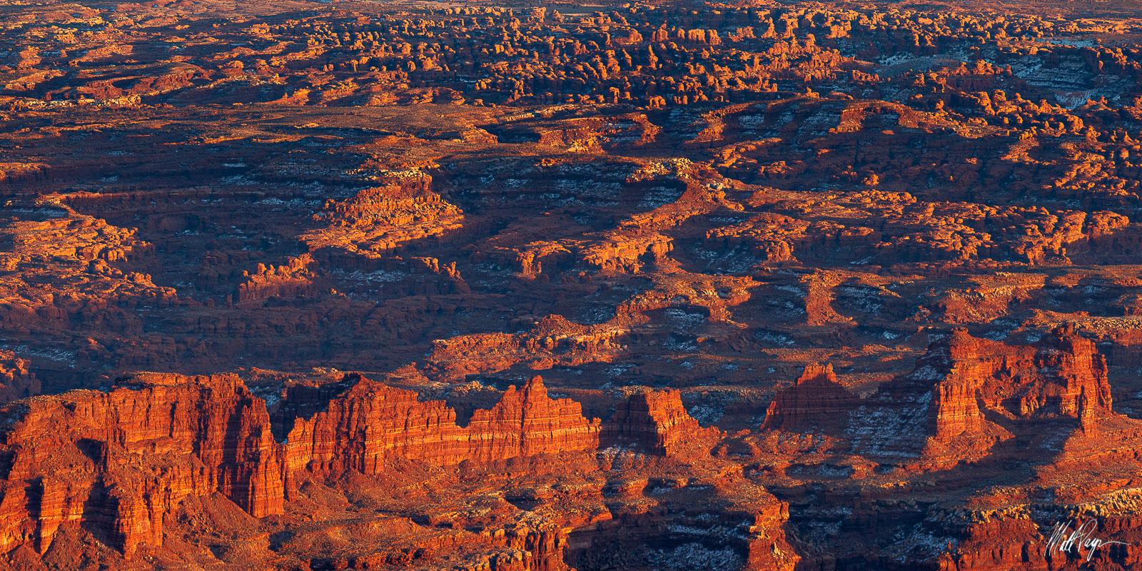 Canyonlands National Park, Erosion, Panorama, Panoramic, Sandstone, Snow, Utah, Vista, Winter, depth, desert, photo