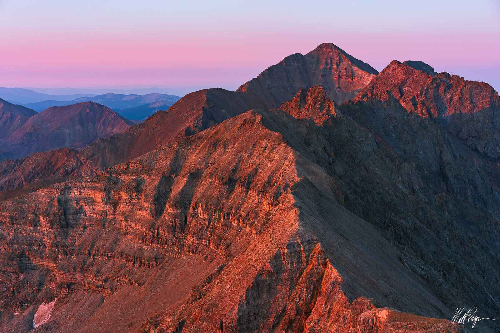 13ers, 14er, 14ers, Belt of Venus, Castle Peak, Cathedral Peak, Climb, Colorado, Conundrum Peak, Elk Mountains, Landscape, Mountains, Sunrise, photo