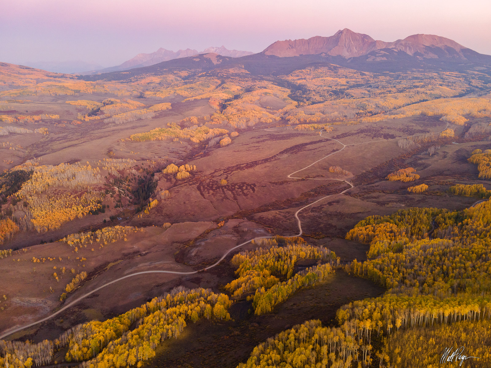 Good night from the San Juan Mountains of Colorado in autumn at sunset. Photo © copyright by Matt Payne.