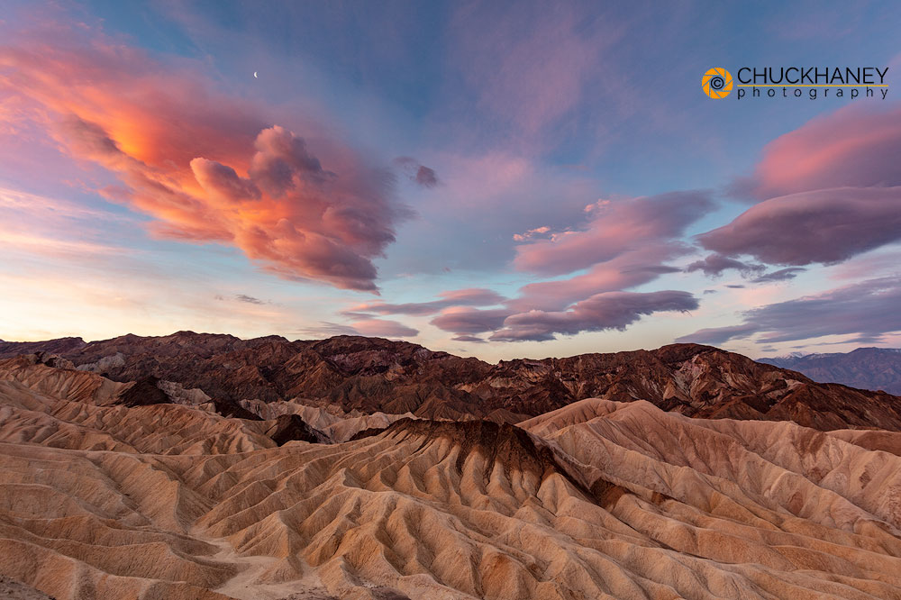 Death Valley National Park, National Park, California, desert, Mojave desert, Zabriskie Point, sunrise, badlands, erosion, scenic, landscape, clouds, photo