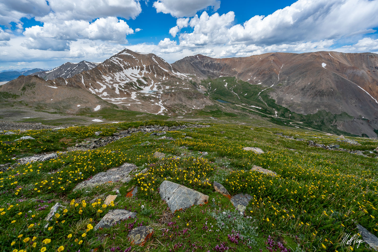 13er, 14ers, Clouds, Colorado, June, Kite Lake, Lake Emma, Landscape, Mount Bross, Mount Democrat, Mount Lincoln, Mountains, Wildflowers, photo