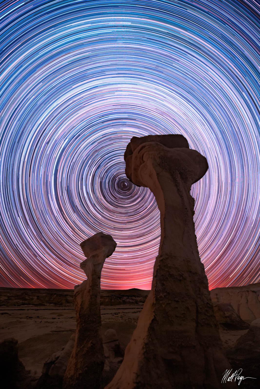 Bisti Badlands, De-Na-Zin Wilderness, Hoodoo, Hoodoos, Landscape, Long Exposure, New Mexico, Nightscape, North Star, Polaris, Star Trails, Stars, Wilderness, desert, E.T., Landscape Photography, photo