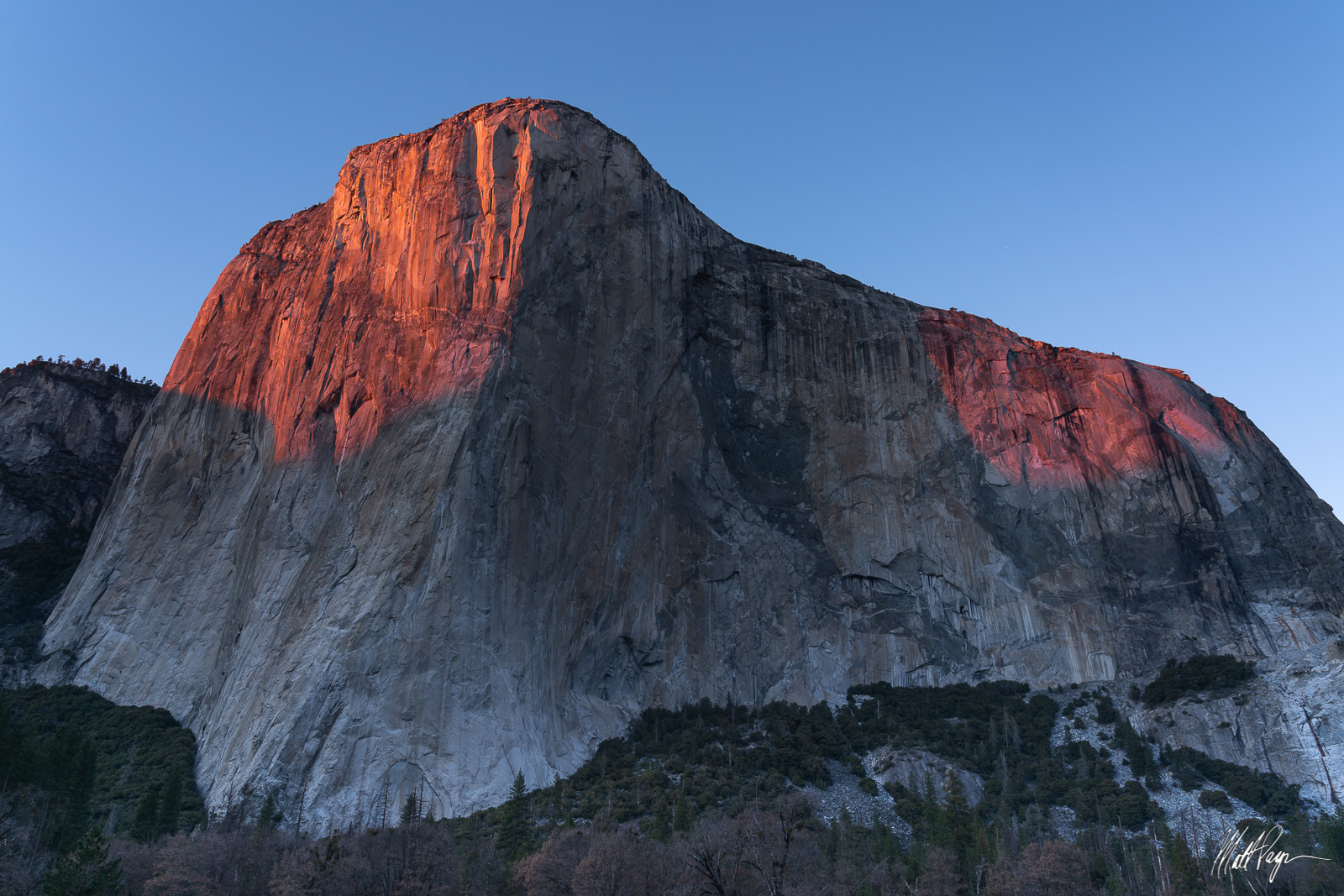 El Capitan, Sunset, Yosemite National Park, granite, photo