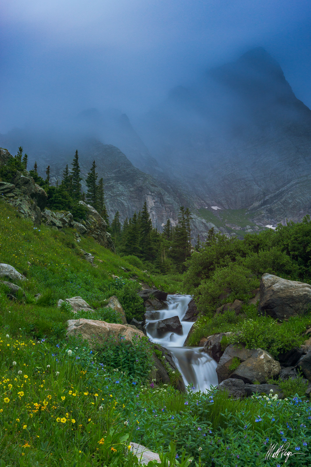 14er, Clouds, Colorado, Crestone Needle, Fog, Long Exposure, Mountains, Sangre de Cristo, Stream, Water, Westcliffe, Wildflowers, photo