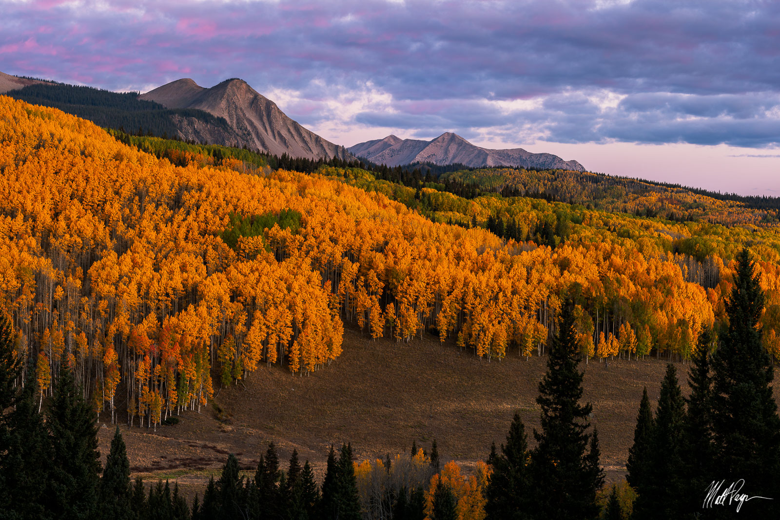 Aspen Trees, Autumn, Colorado, Crested Butte, Fall Colors, Gunnison, Mountains, Ohio Pass, Sunrise, east beckwith mountain, West Elk Mountains, photo