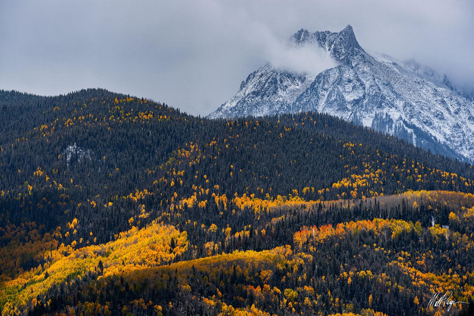 Aspen Trees, Autumn, Clouds, Colorado, Landscape, Ridgway, San Juan Mountains, photo