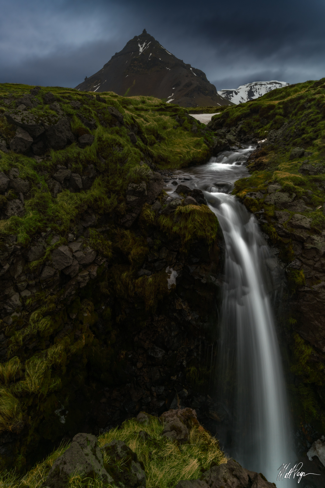 Green, Iceland, Landscape, Long Exposure, Moody, Mountains, Snaefellsnes Peninsula, Spring, Water, Waterfall, beautiful, zen, photo