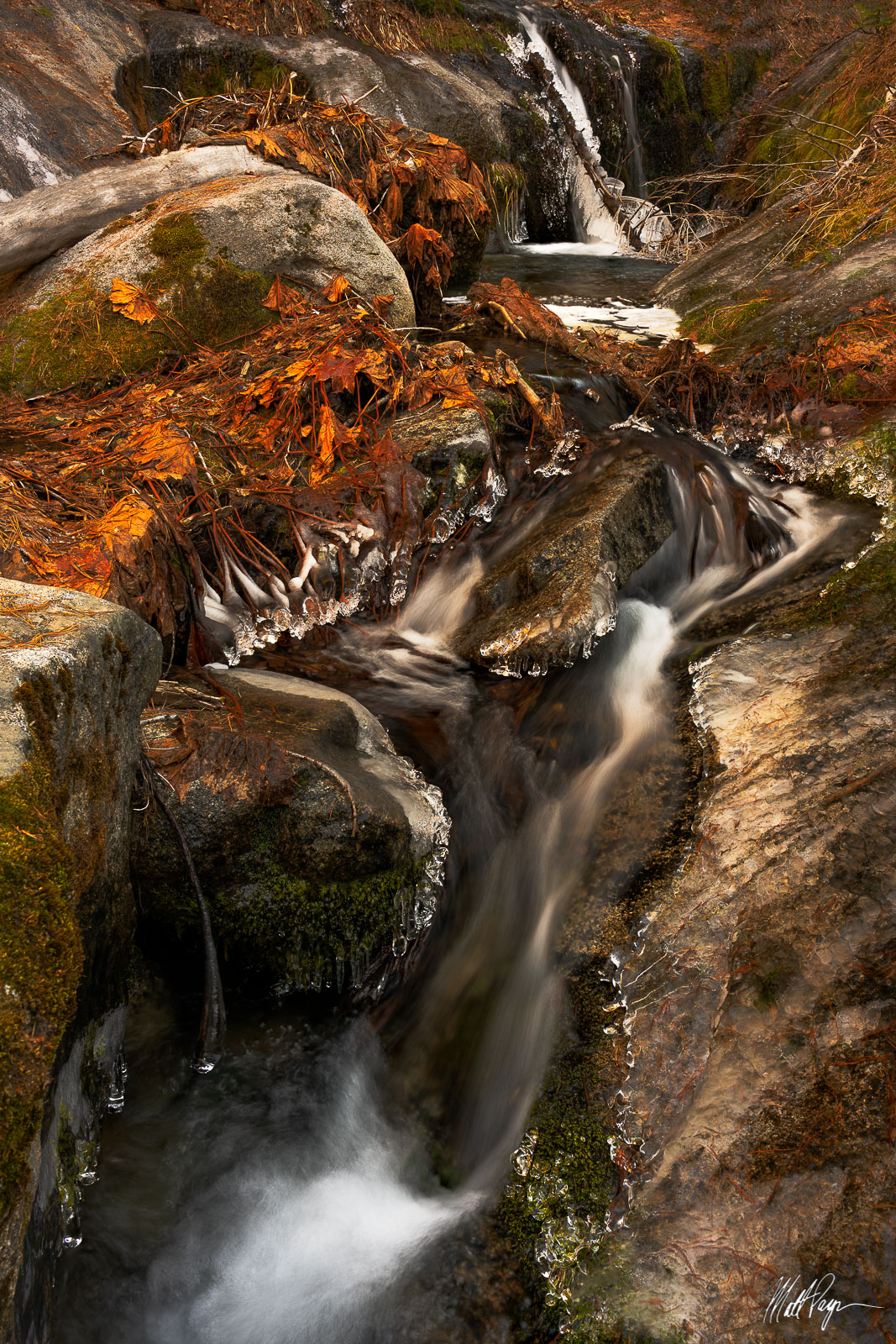 Frozen, Stream, Yosemite National Park, photo