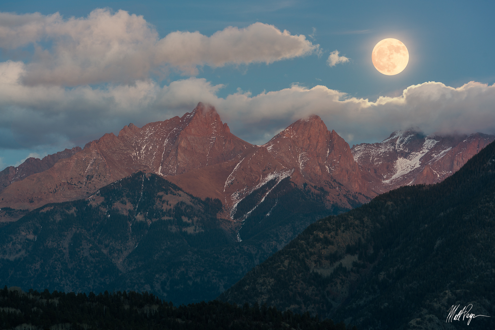 Colorado, Durango, Full Moon, Landscape, Moon, Moonrise, Mountains, Needle Mountains, Night, Pigeon Peak, Purgatory Resort, San Juan Mountains, Sony A7R2, Sony FE 70-300, Southwest Colorado, Supermoon, photo