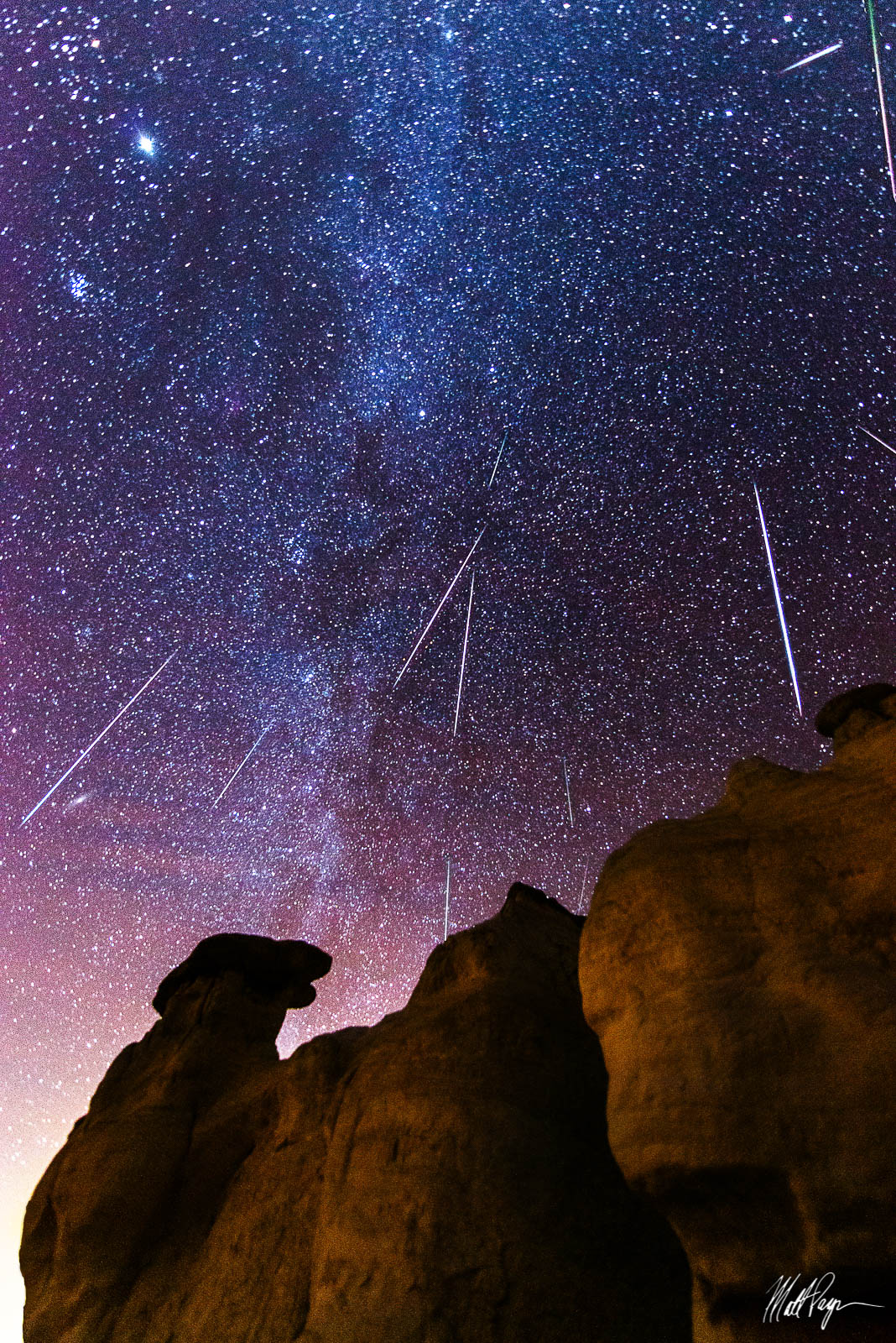 Colorado, Colorado Springs, Geminid Meteor Shower, Meteor, Milky Way, Night, Nightscape, Paint Mines, Calhan, Stars, Wonder, shooting star, photo