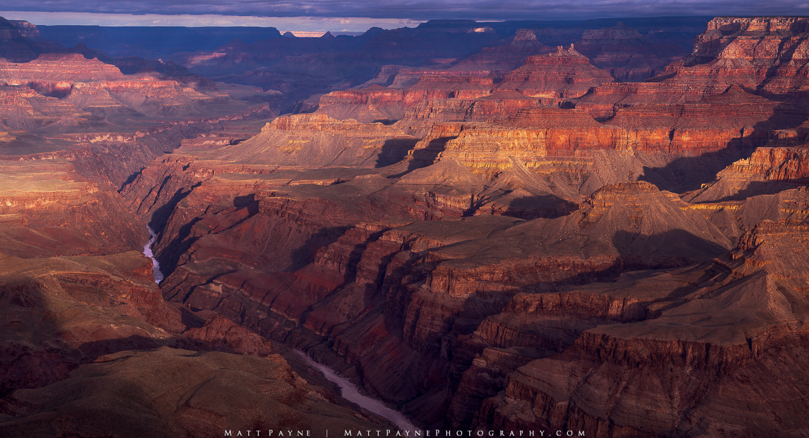 Colorado River, Grand Canyon National Park, Panorama, Sunrise, early light, layers, photo