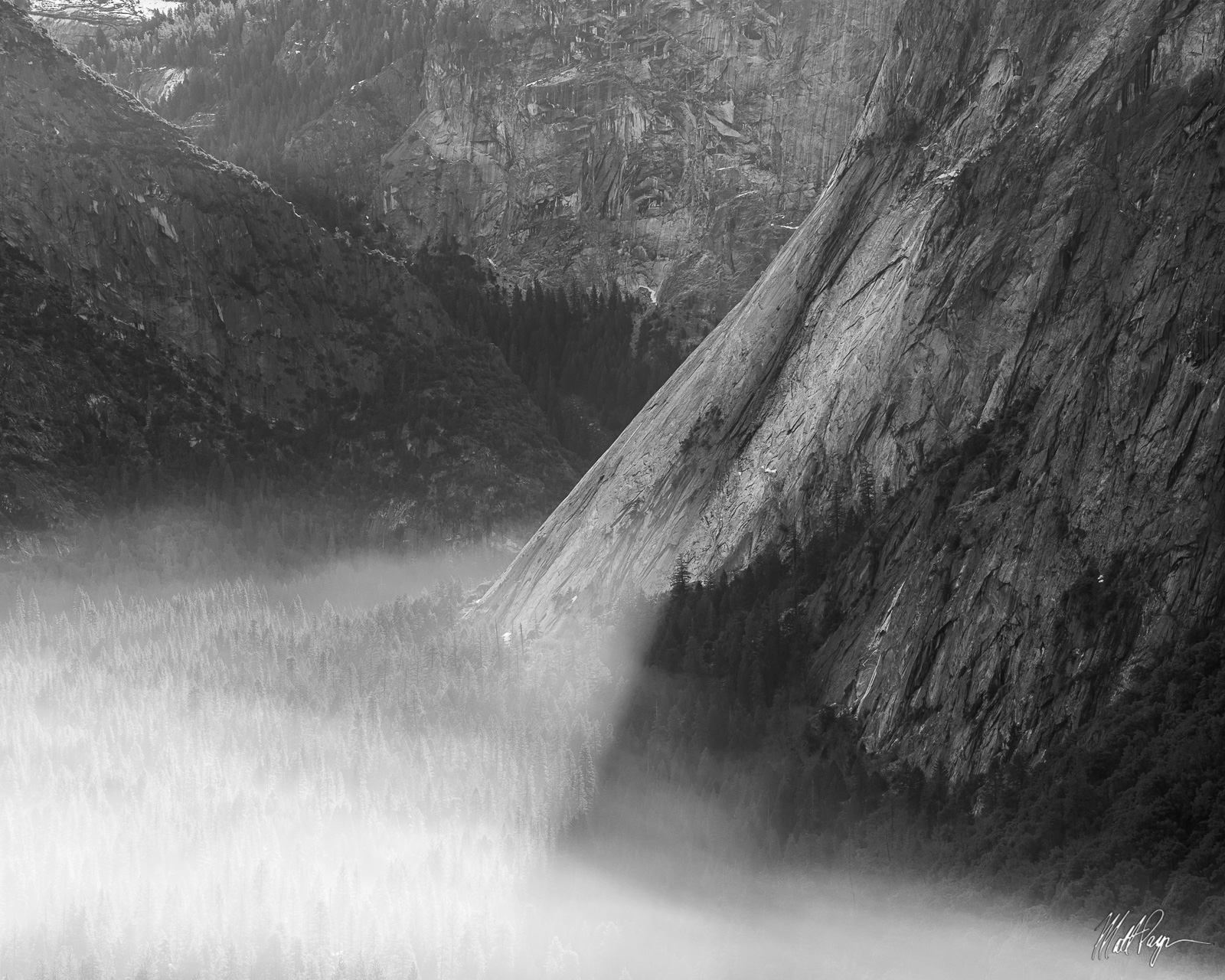 Black and White, Smoke, Yosemite National Park, granite, photo