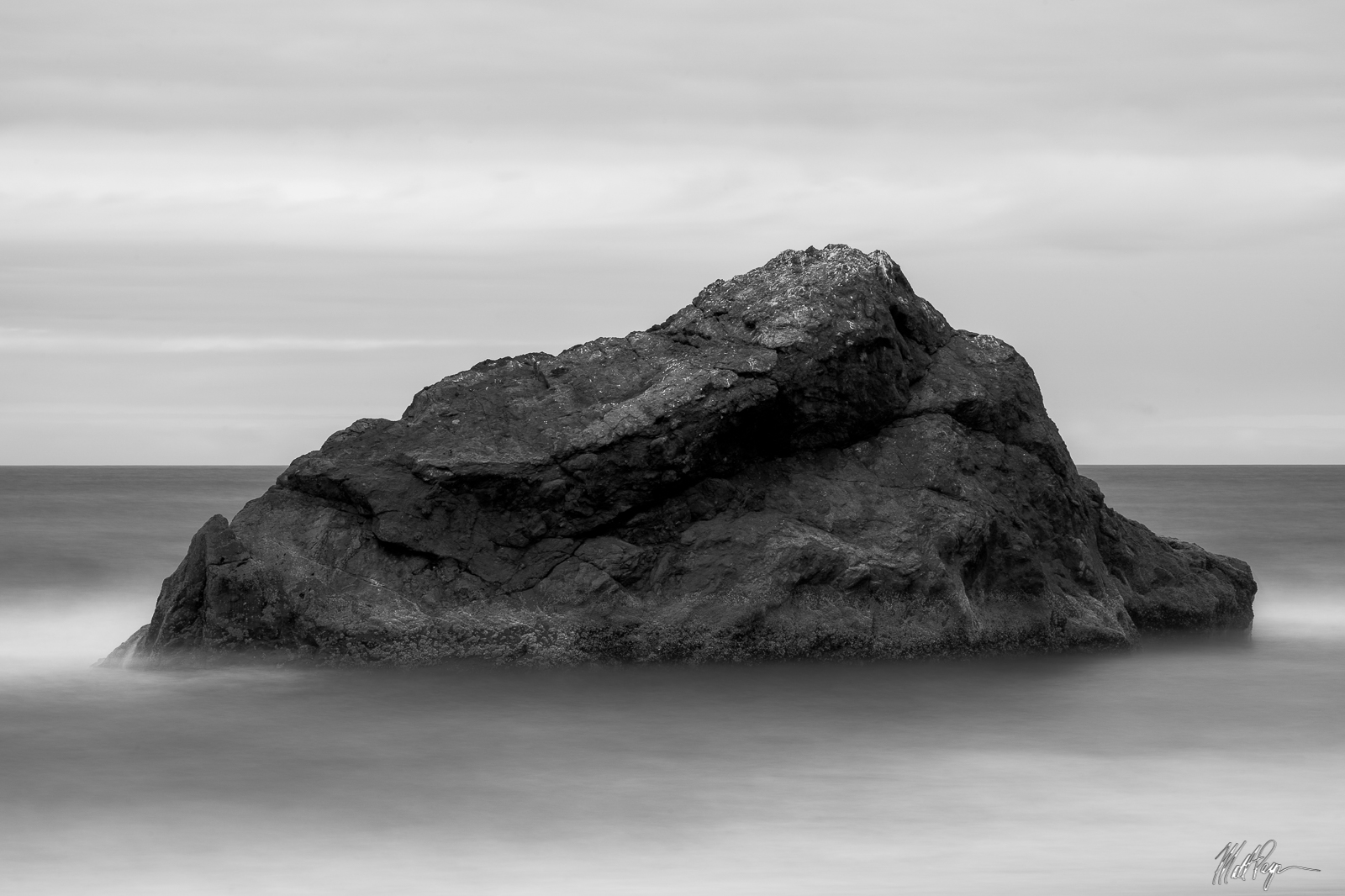 This black and white photograph made on the California Coast represents stability and a sense of being grounded. Utilizing a...