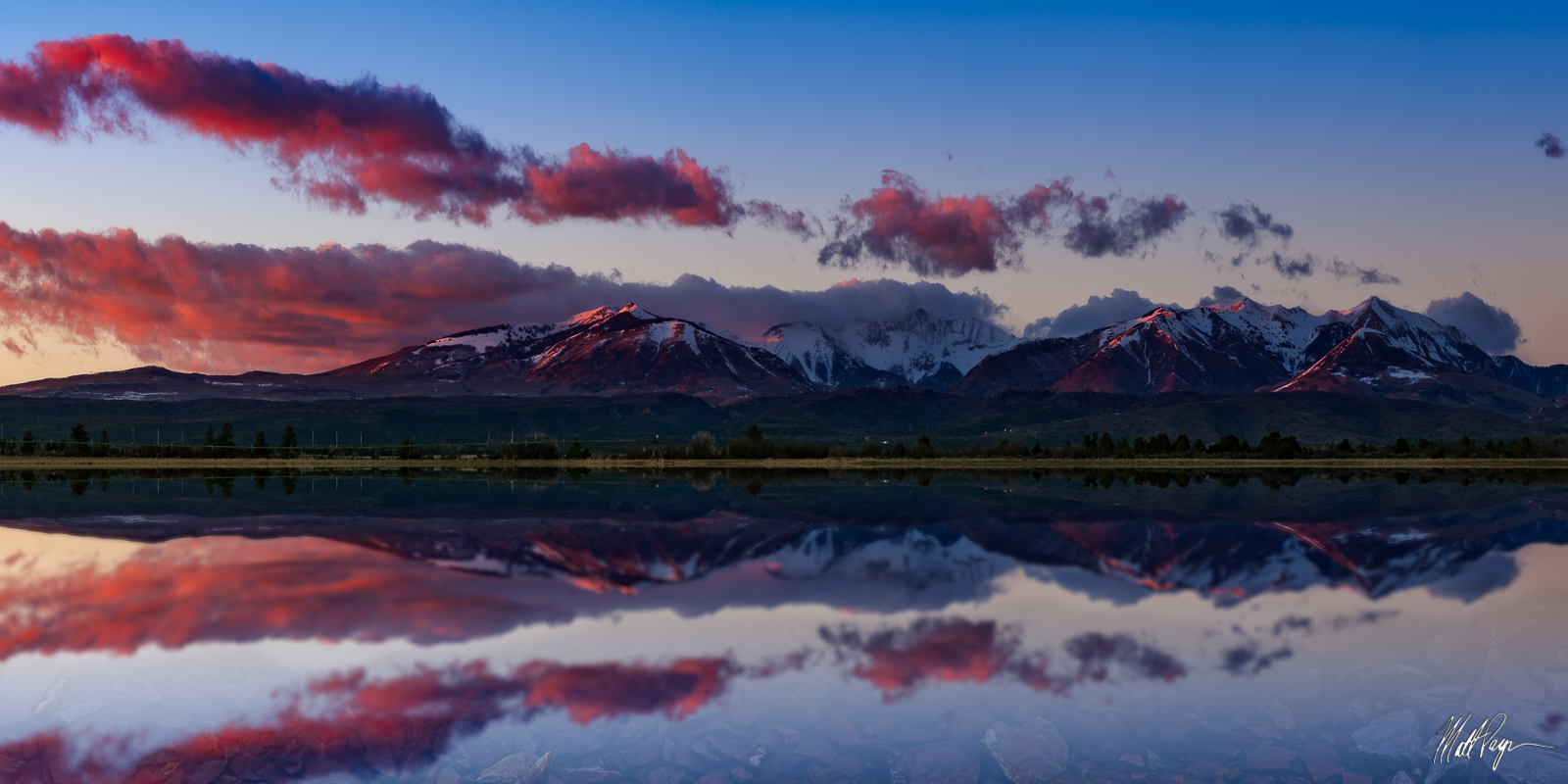 Clouds, Colorado, Durango, Fine art, La Plata Mountains, Panorama, Reflection, Southwest Colorado, Spring, Sunset, photo