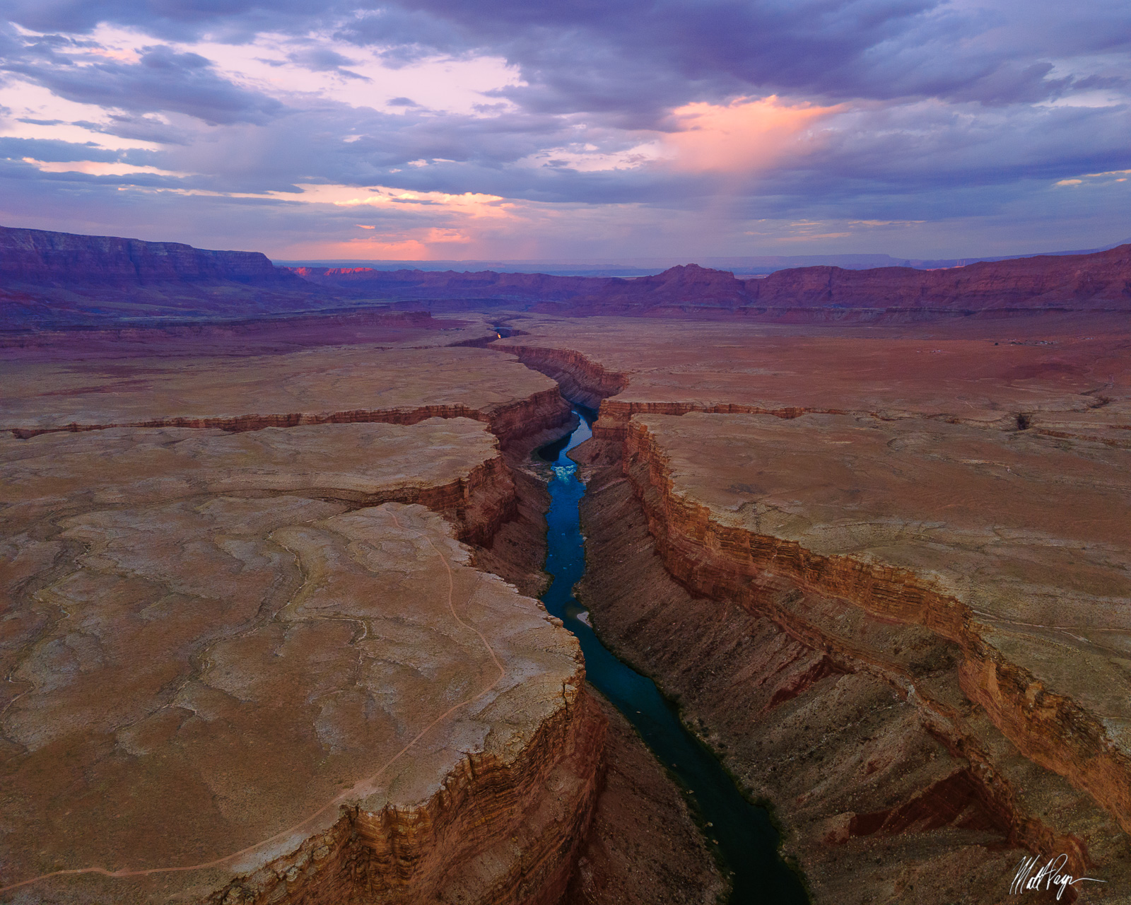 A view of the Colorado River at sunset deep within BLM land in Arizona, USA. Photo © copyright by Matt Payne.