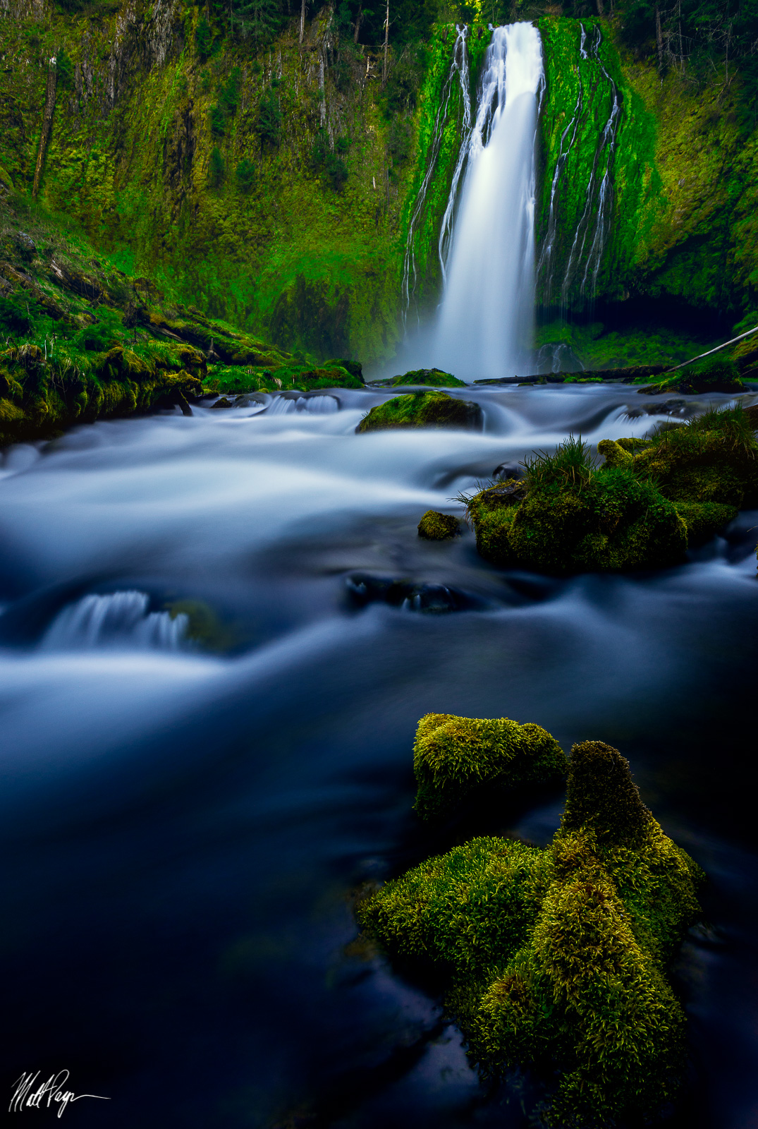 Lemolo Falls, Long Exposure, Waterfall, Southern Oregon, mossy, photo