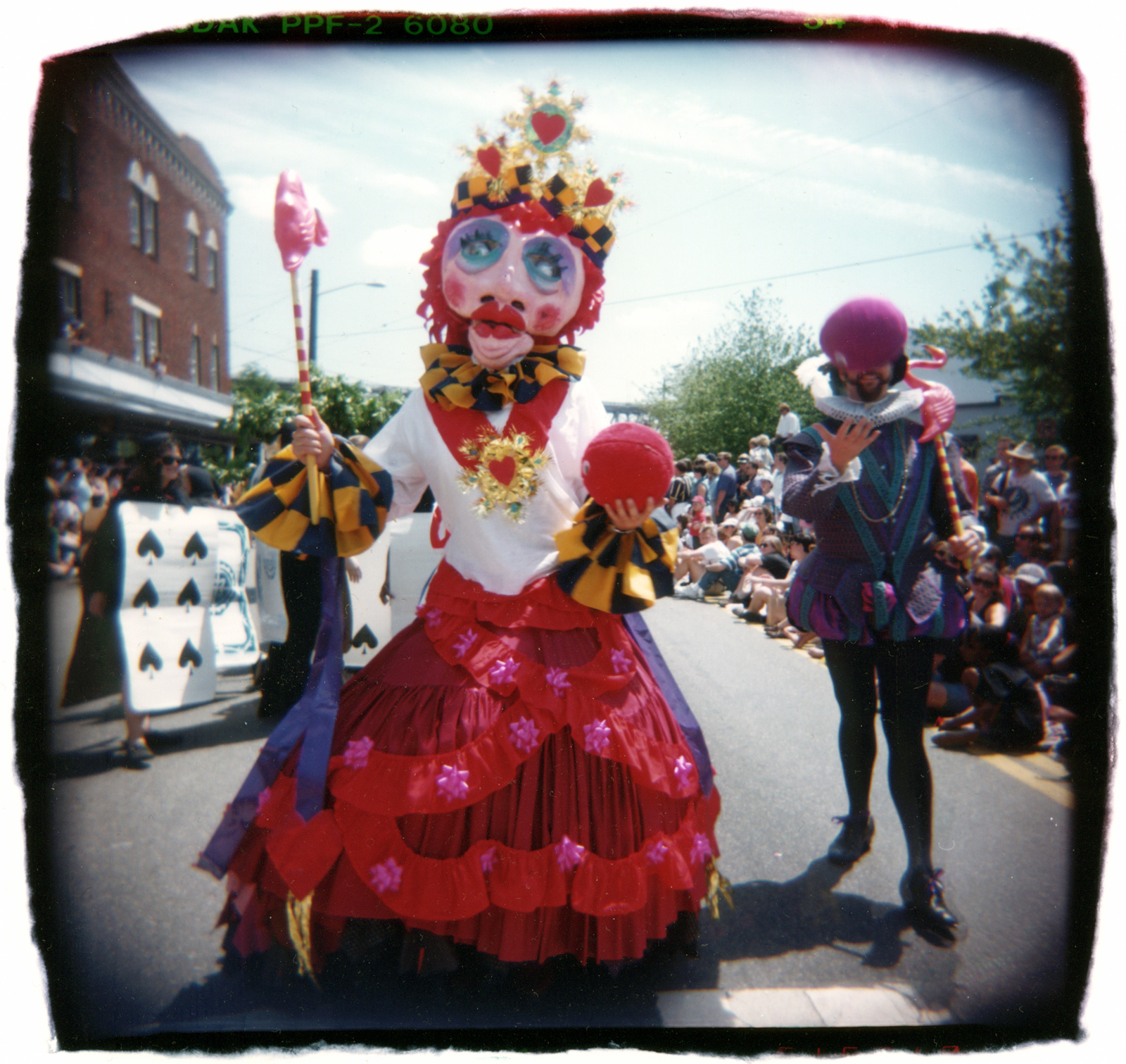 Queen of Hearts by David Catherine Ti, Fremont Summer Solstice Parade, Seattle 1996