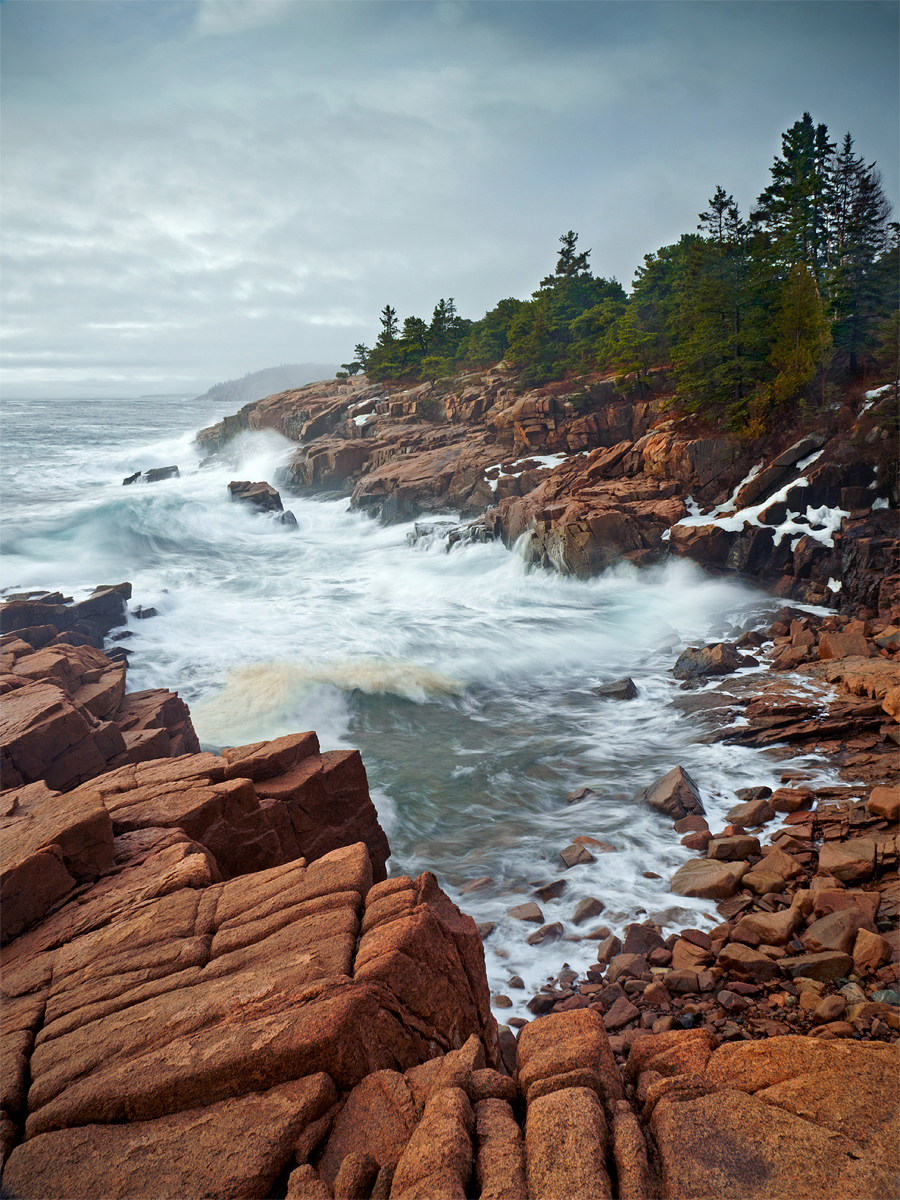 Acadia National Park, East Coast, Maine, Mount Desert Island, National Park Service, Newport Cove, Ocean Drive, Park Loop Road, Winter, cold, granite, ice, national park, natural, nature, northeast, o, photo