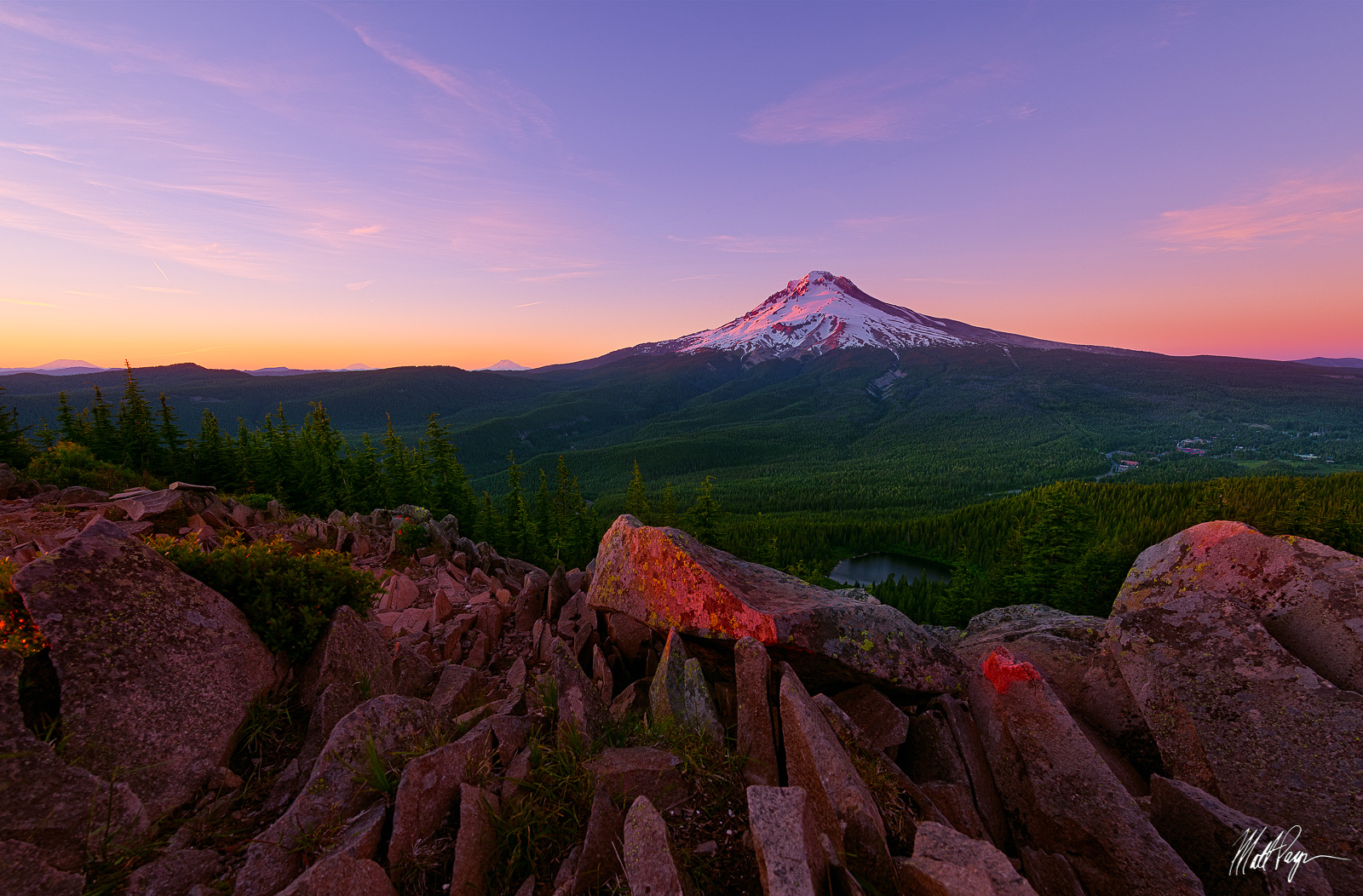 Cascade Range, Landscape, Mirror Lake, Mount Adams, Mount Hood, Mount Rainier, Mount St. Helens, Mountains, Nature, Oregon, Pacific Northwest, Portland, Sunset, Tom Dick and Harry Mountain, volcanoes, photo