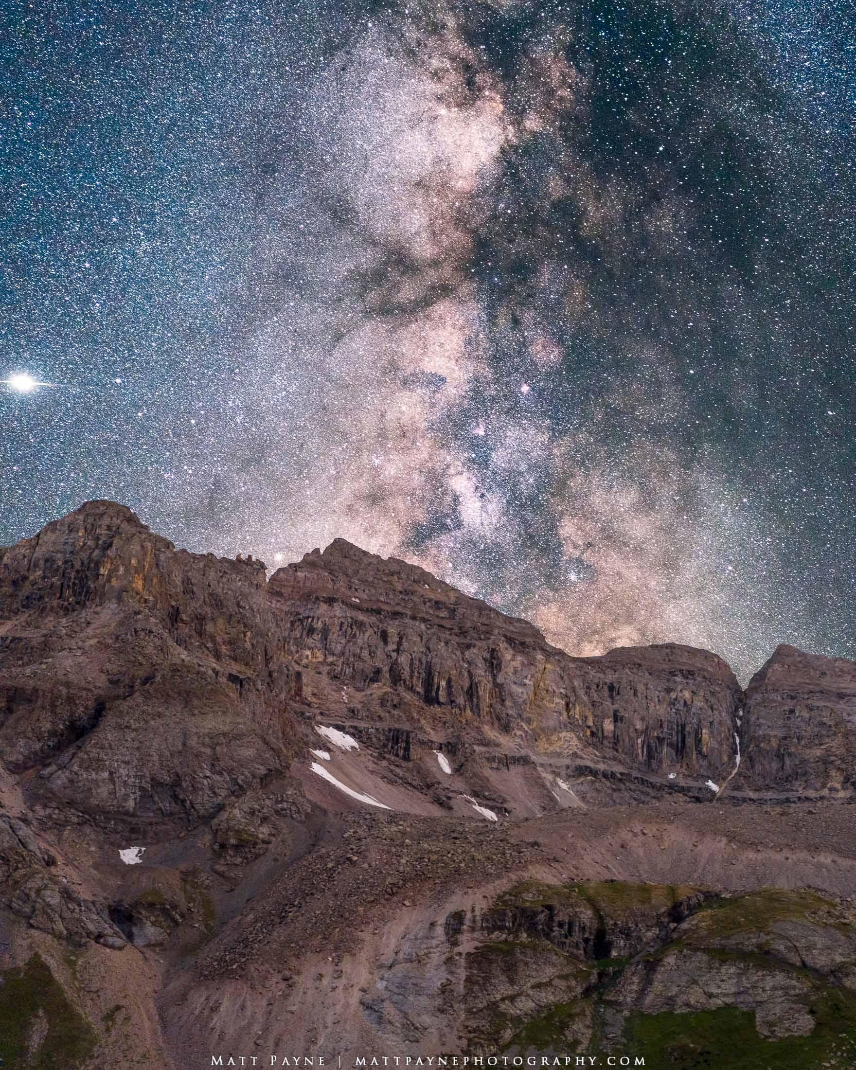 Milky Way, San Juan Mountains, Colorado, Night, Dallas Peak, Mountains, 13er, Mount Sneffels Wilderness, Galaxy, Telluride, Ridgway, Landscape Photography, photo