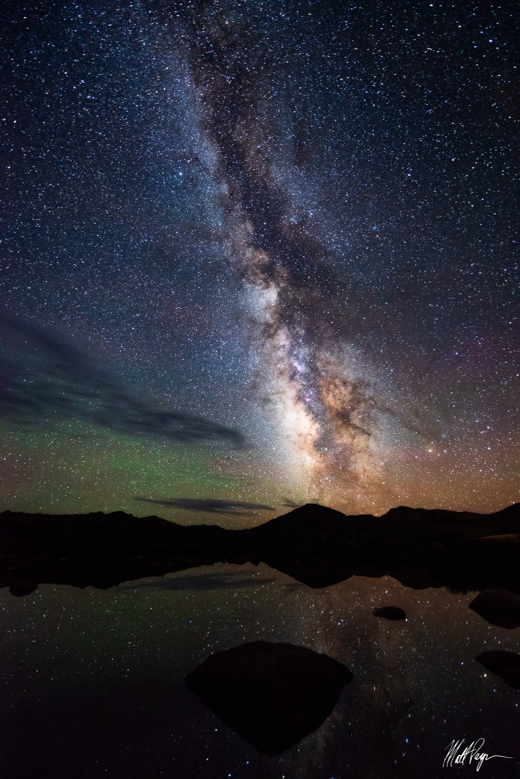 Colorado, Independence Pass, Landscape, Milky Way, Mountains, Night, Nightscape, Reflection, Stars, photo