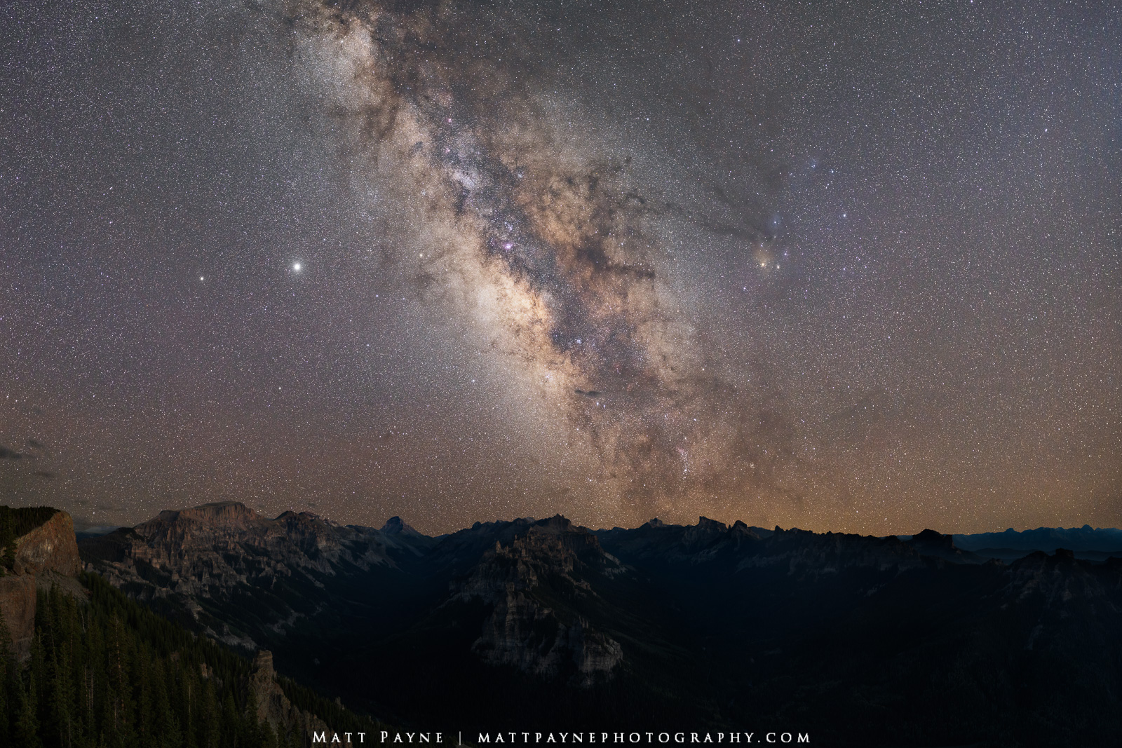 Mount Sneffels, Milky Way, July, Cimarron Mountains, San Juan Mountains, Uncompahgre Peak, 14er, Precipice Peak, night, nightscape, PhotoPills, backpacking, photo
