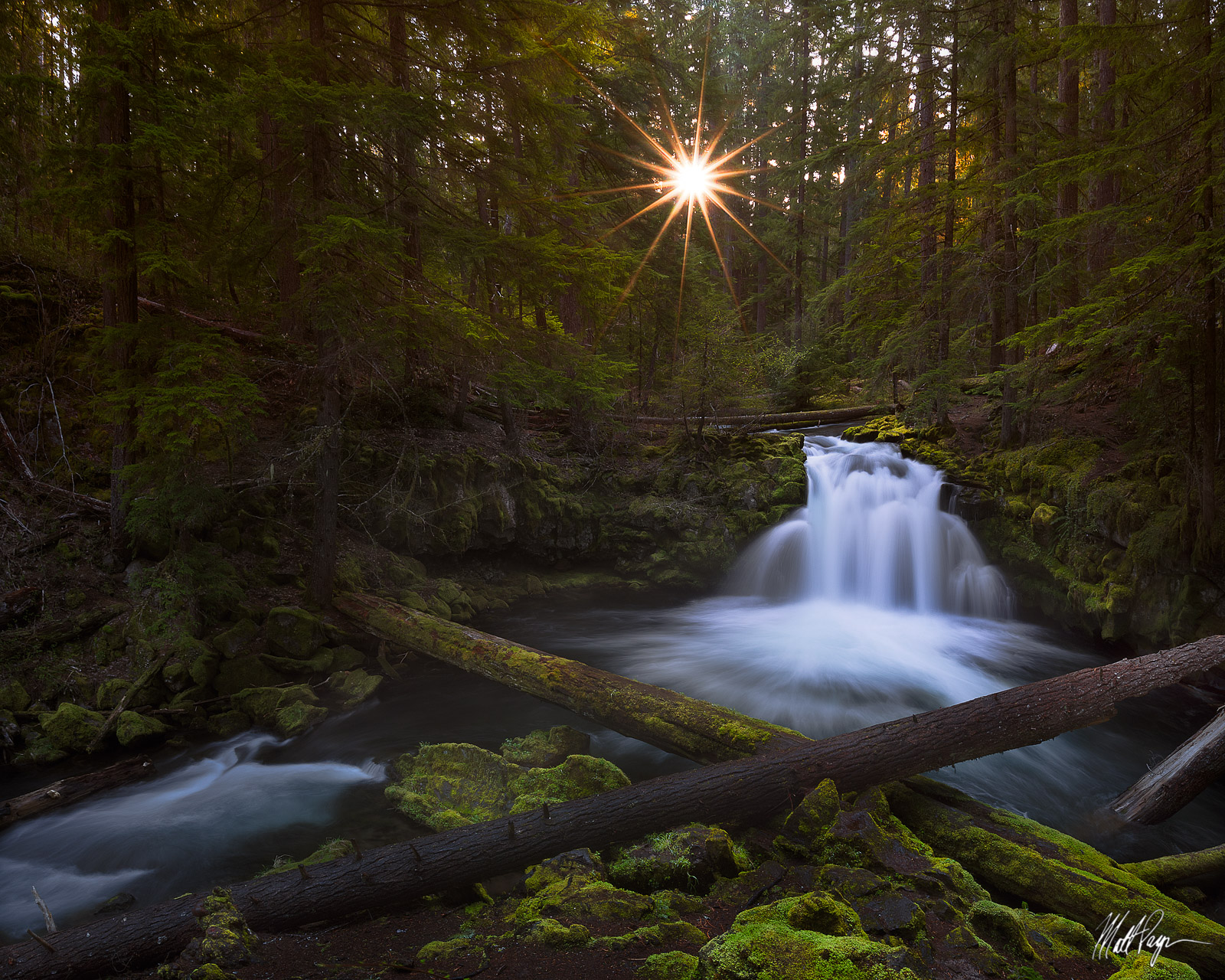 Landscape, Long Exposure, Nature, North Umpqua River, Oregon, Pacific Northwest, Sunrise, Sunstar, Waterfall, Whitehorse Falls, photo