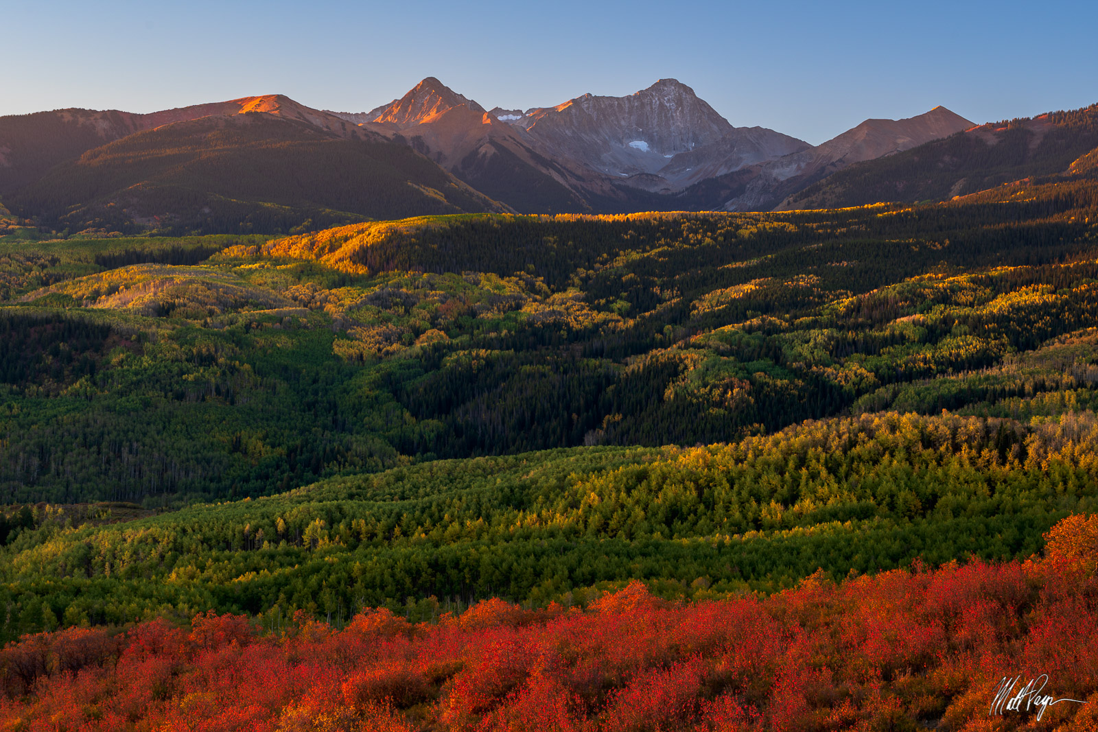 14er, Aspen, Aspen Trees, Autumn, Capitol Peak, Carbondale, Colorado, Elk Mountains, Fall, Fall Colors, Landscape, Mount Daly, scrub oak, photo