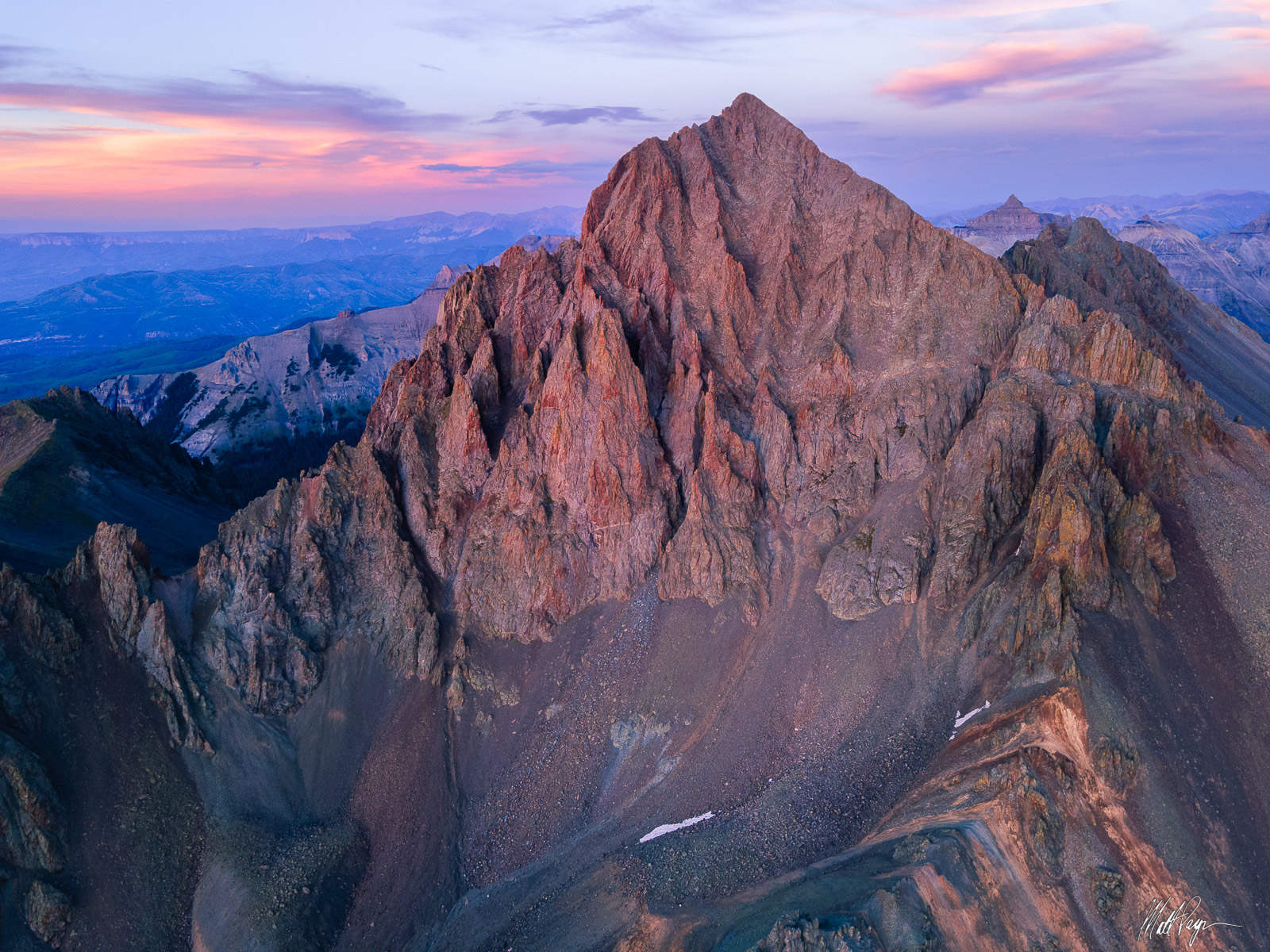 Mount Sneffels, San Juan Mountains, Colorado, rare, Blue Lakes, Ouray, Ridgway, 14er, Sunset, Landscape Photography, photo
