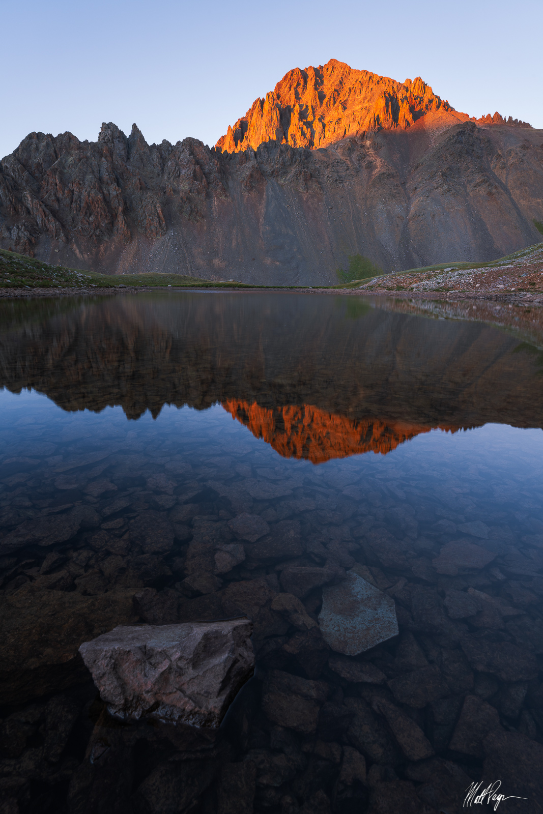 Mount Sneffels, San Juan Mountains, Colorado, 14er, Ouray, Yankee Boy Basin, Blue Lakes, reflection, sunset, lake, Landscape Photography, photo