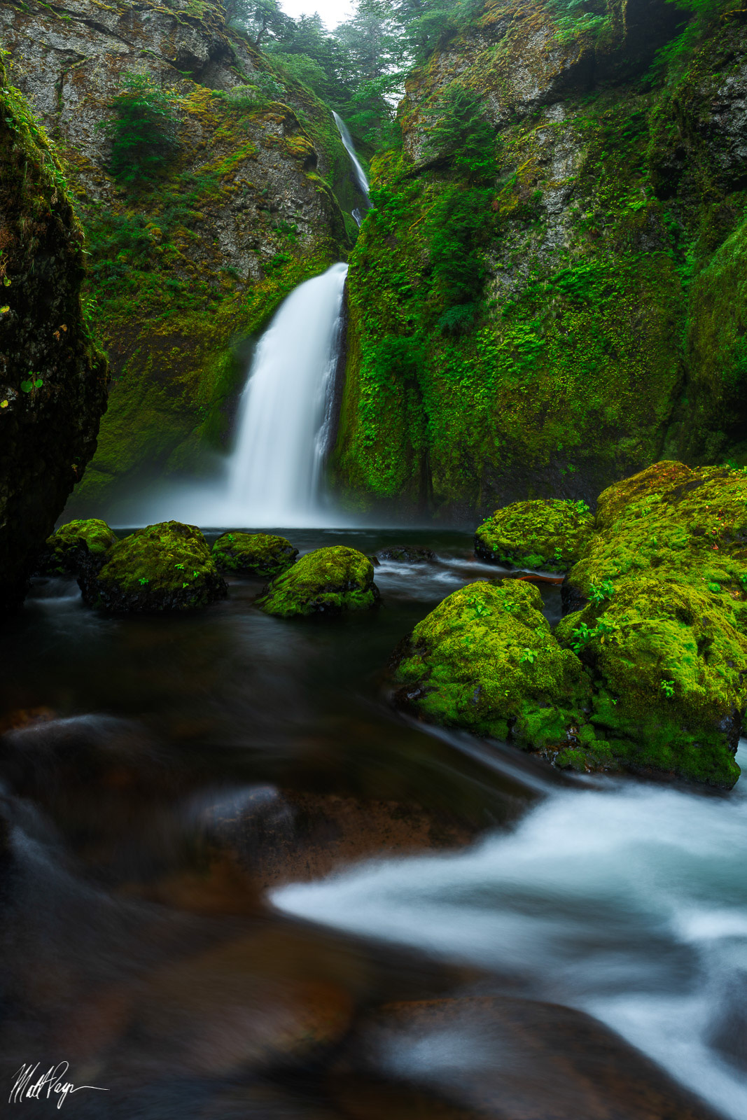 Columbia River Gorge, Evening, Landscape, Nature, Oregon, Pacific Northwest, Portland, Wahclella Falls, Water, Waterfall, photo