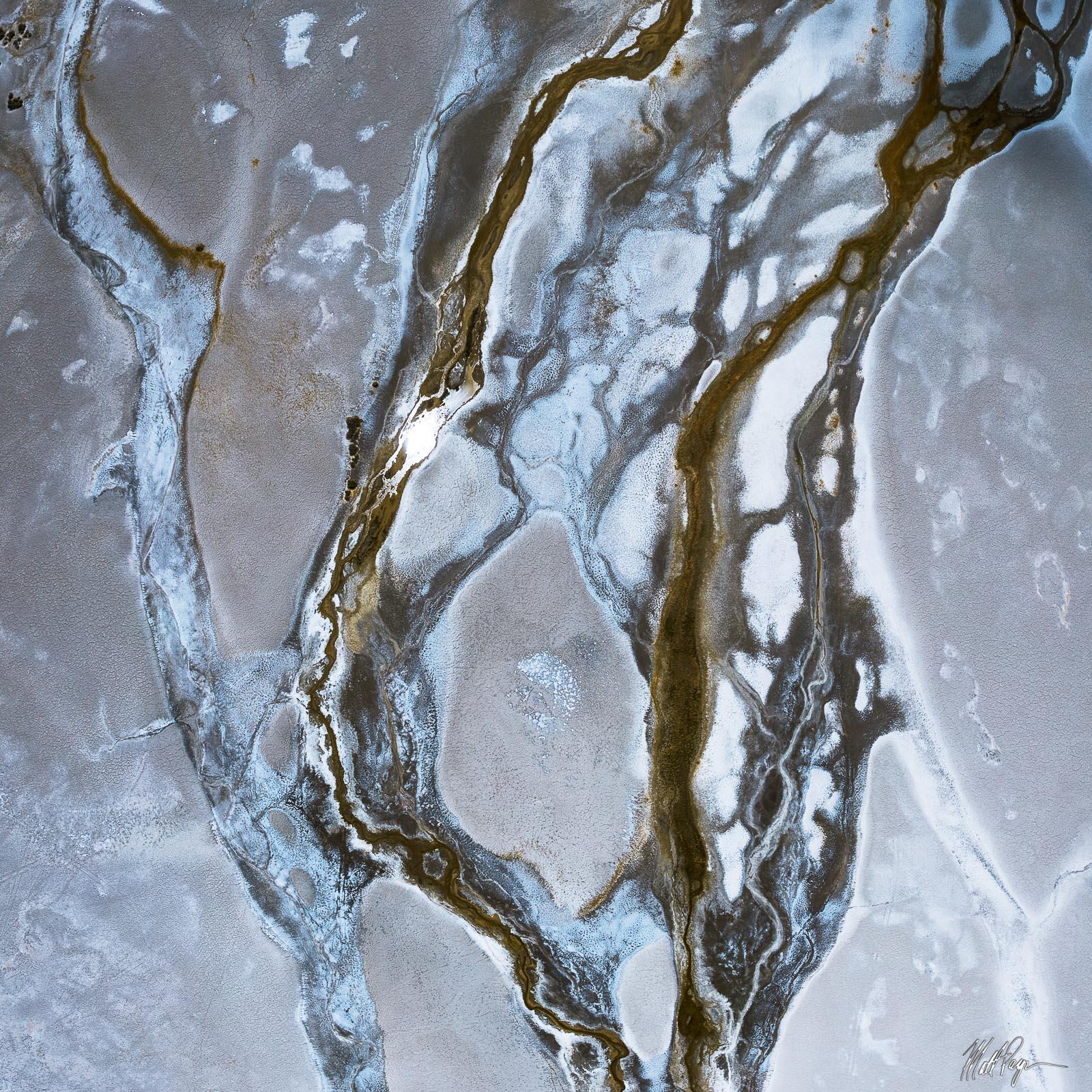 Tributaries of water flow through the Oregon Desert. Photo © copyright by Matt Payne.